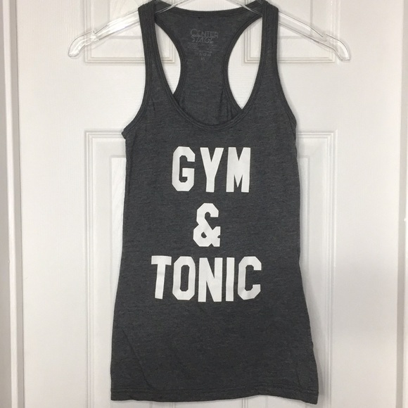 c0c8472c8 Center Stage Tops | Gym Tonic Tank Top Graphic Tee Shirt Q | Poshmark